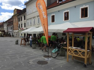 kolesarske goste je nagovoril tudi direktor ZTK Kranj mag. Tomaž Štefe