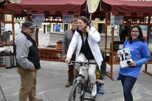 Kolesarski dan pod Storžičem uspel, z nami tudi  Violeta Bulc
